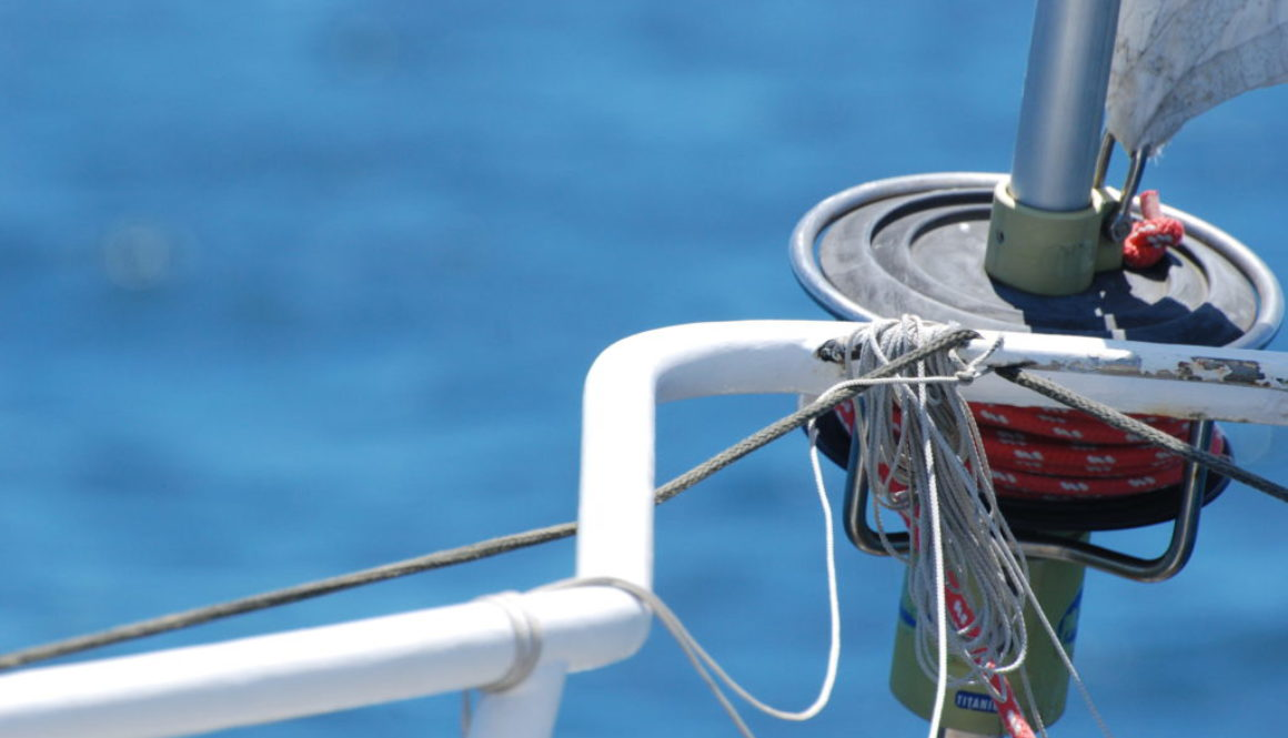 close up of sailing yacht in the bay of islands