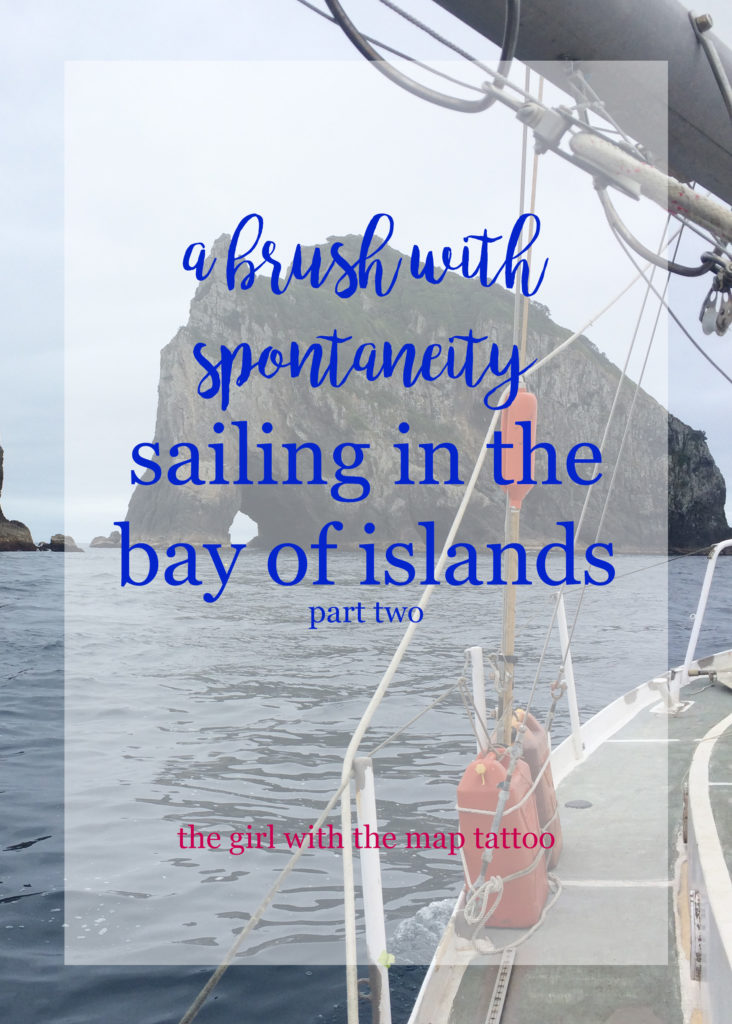 a sailing trip in New Zealand's Bay of Islands