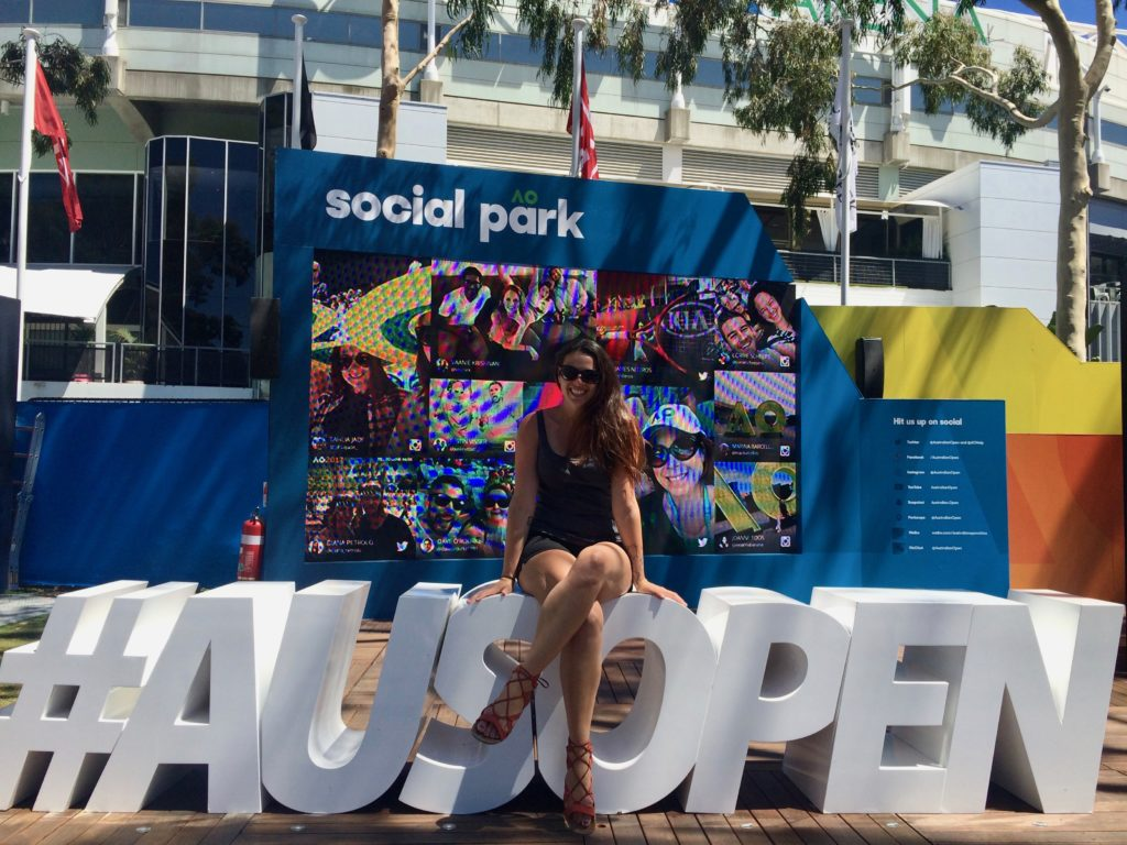 The Girl With the Map Tattoo at the Australian Open