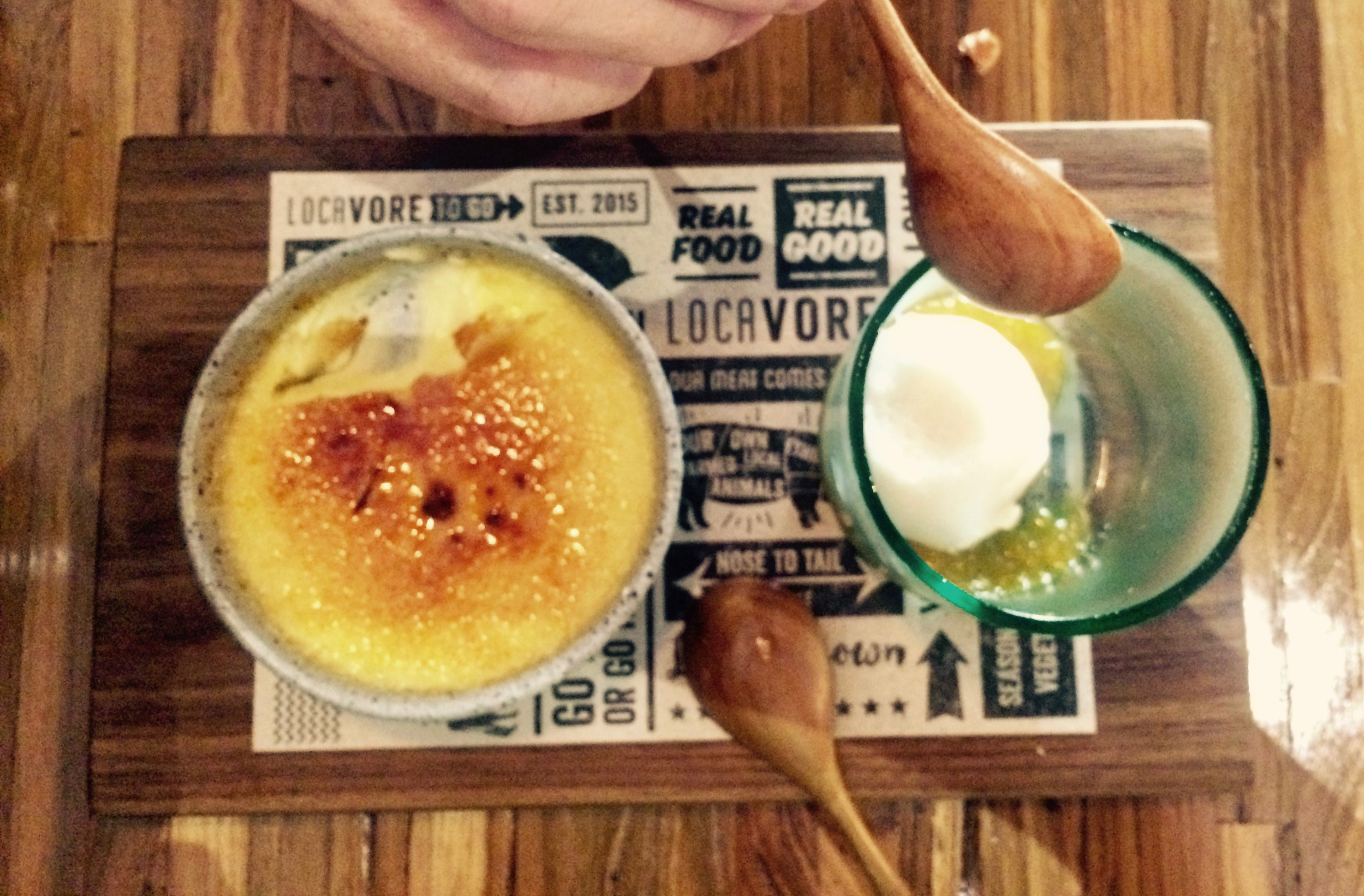 Food in Ubud: creme brulee from Locavore To Go, Ubud, Bali