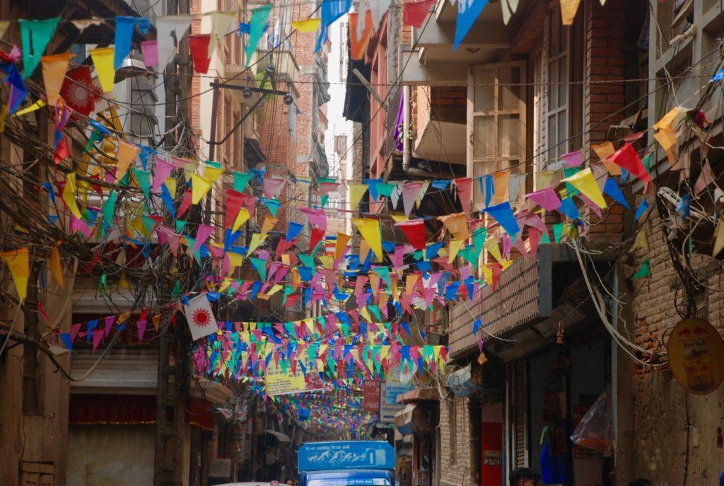 on landing in Kathmandu: street scenes