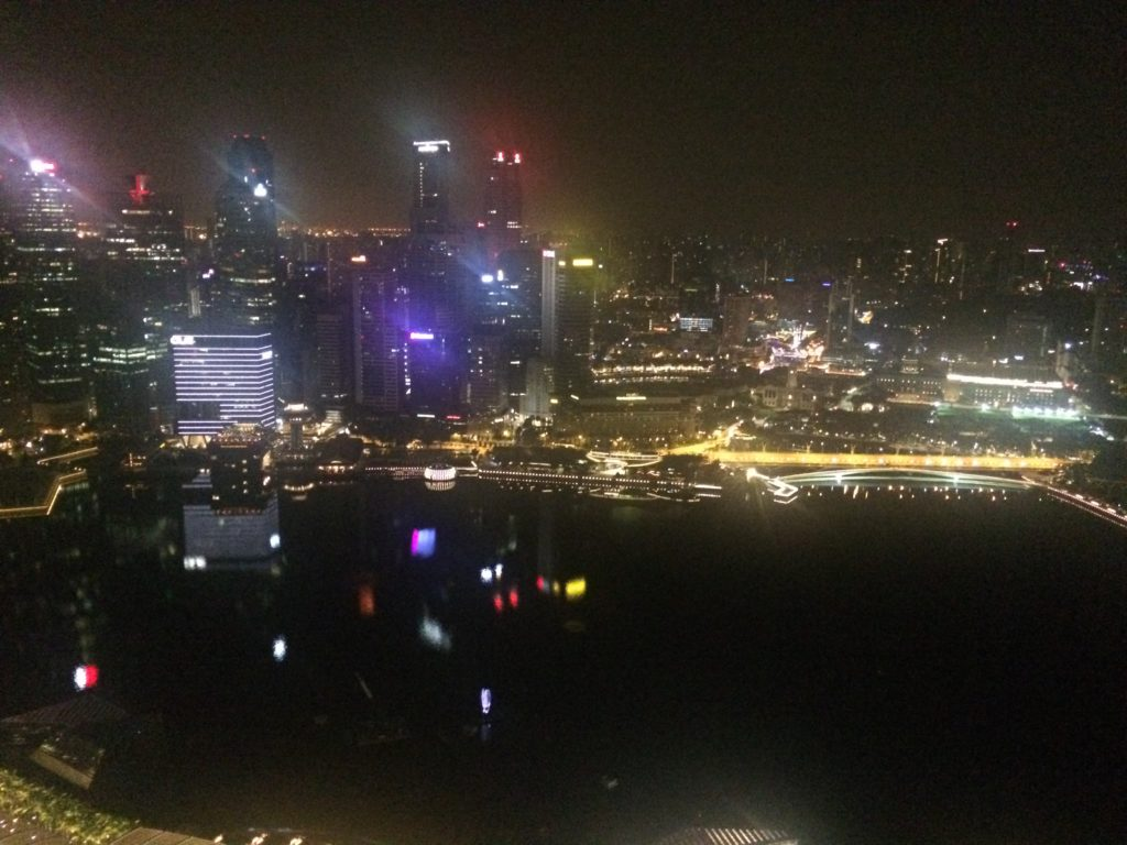 Where is the Girl With the Map Tattoo? Singapore at night