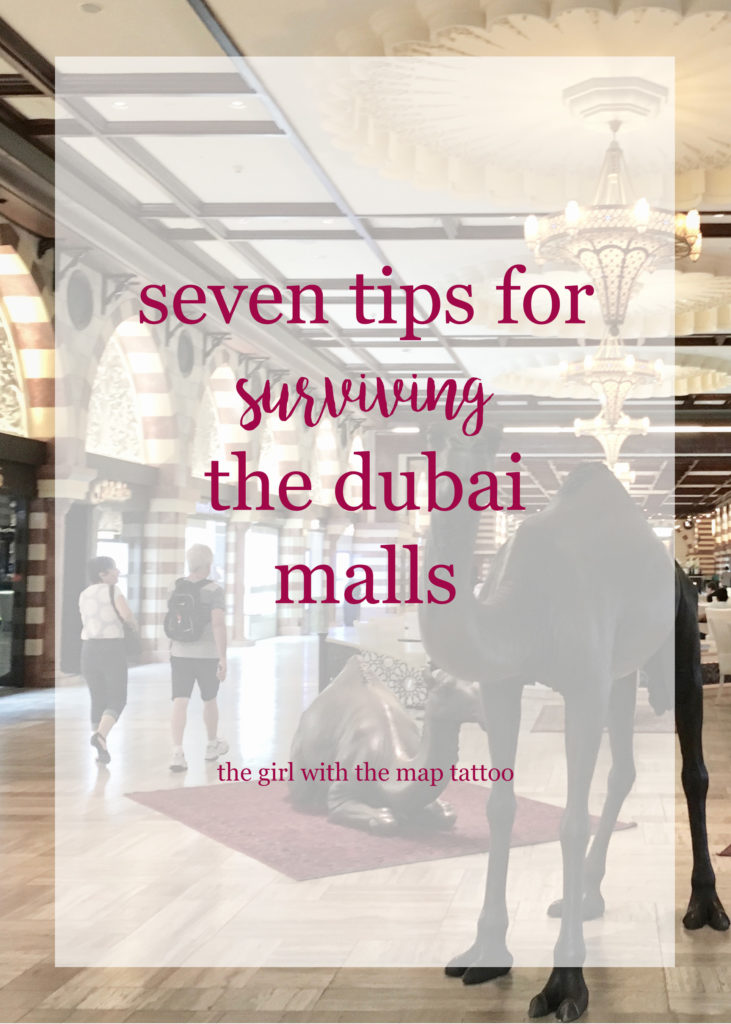 Shop til you drop takes on a whole new meaning in the Dubai malls.. They have everything from spas to ski fields! Here are seven tips for surviving them!