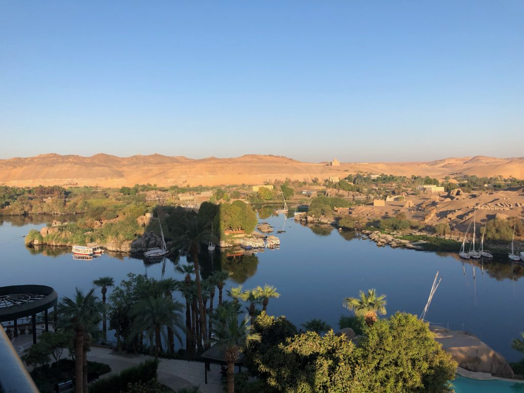 view from Sofitel Legend Old Cataract Aswan hotel